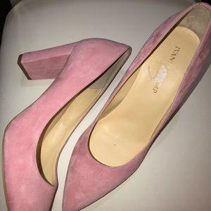 """Pink suede 2.5"""" heel by Ivanka Trump sz9"""